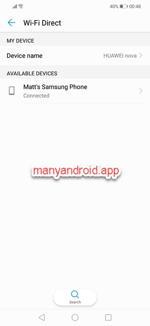 huawei phone wifi direct settings connections