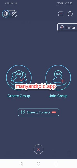 Zapya for Android - create group, join group, connect