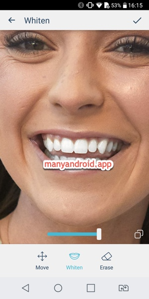 Whiten your teeth in photo using FaceTune on Android phone