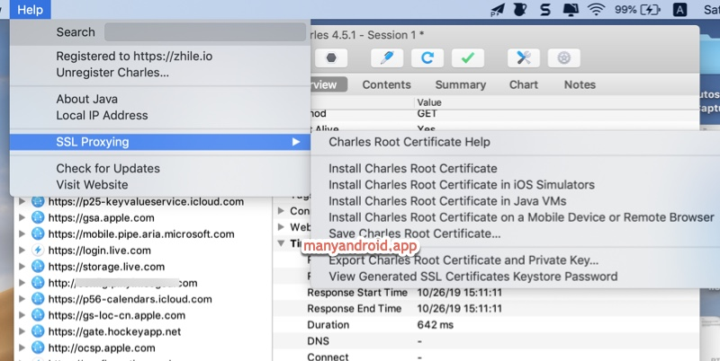Charles Proxy Mac - ssl proxying - install Charles root certificate