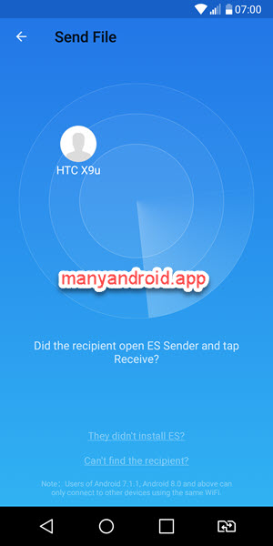 es sender for android send files to other mobile phone