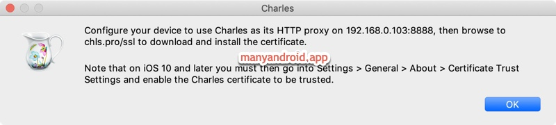 connect other phones to Charles Proxy server on Mac
