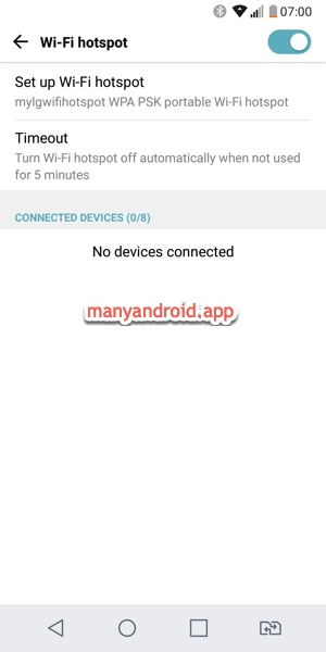 turn on, set up, manage wifi hotspot on android phone lg