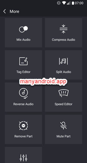 music editor for android more functions