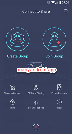 zapya for android phone to connect and share