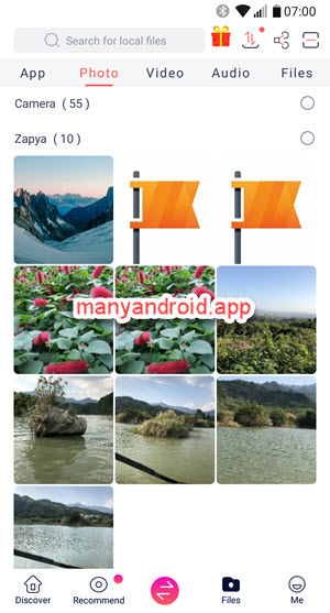 zapya file transfer app for android phone