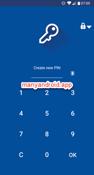 folder lock android phone - create new pin