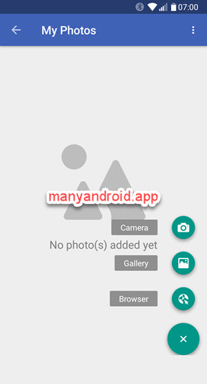 folder lock app on android phone import pictures, photos from camera, gallery and web browser