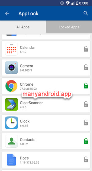 Lock specific apps on android phone using folder lock applock