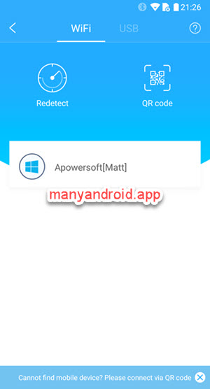 mirror android phone screen to windows pc over wifi using apowermirror