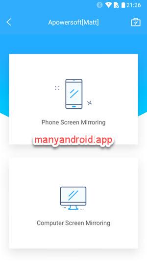 phone screen mirroring vs computer screen mirroring options apowermirror android