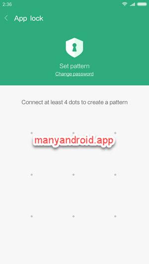 xiaomi redmi phone set pattern to lock apps using built-in app lock