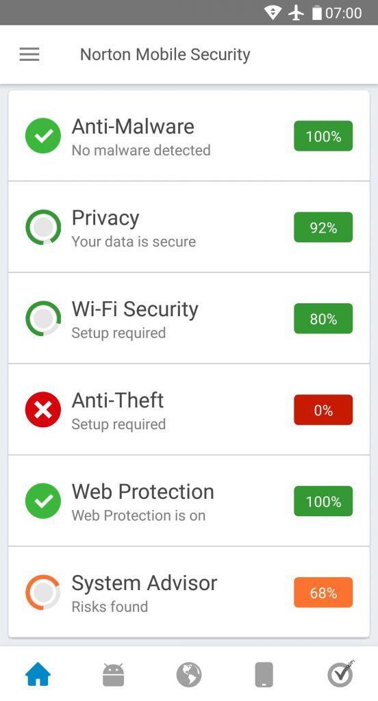 norton mobile security android