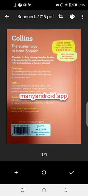 edit, add scan in google drive on android phone