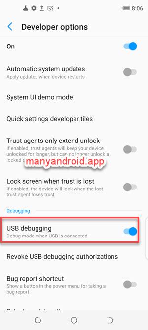 turn on usb debugging on tecno mobile phone from developer options settings