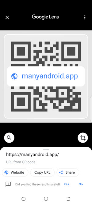 scan qr code using google lens on android phone