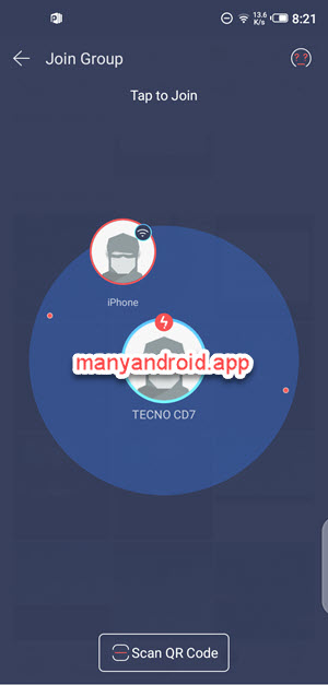 tecno mobile phone connect iphone via wifi using zapya for android
