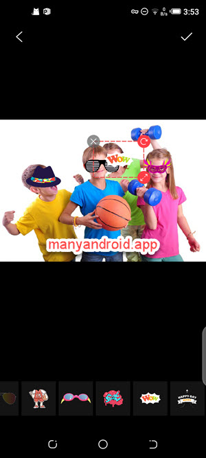 add watermarks, stickers to photos using google photos for android on mobile phone