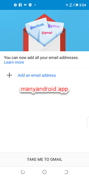add an email address in gmail for android on mobile phone