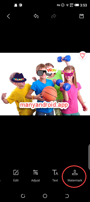 google photos for android photo editing watermark tool on mobile phone