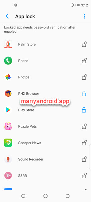 Lock individual apps using phone master on Tecno mobile