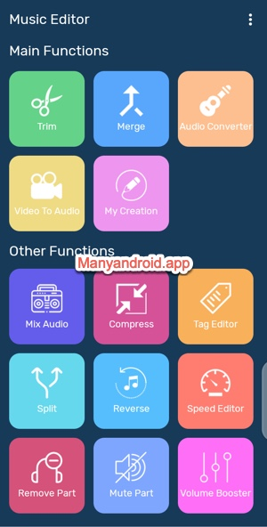 music editor functions tools for android - futuretech
