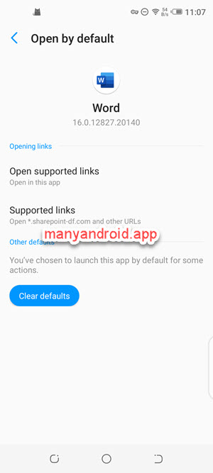 open by default clear defaults on android mobile phone