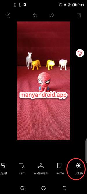 tecno mobile phone gallery app photo editing bokeh