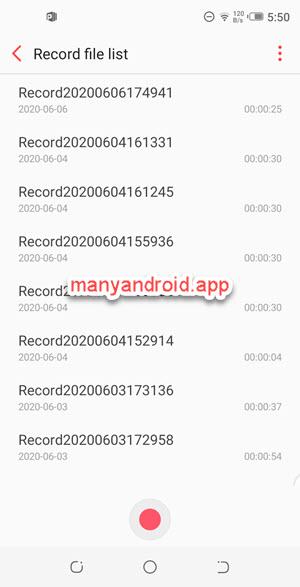tecno mobile phone sound recorder app recording files list