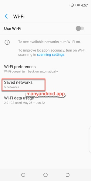 view saved wifi networks Tecno Mobile phone