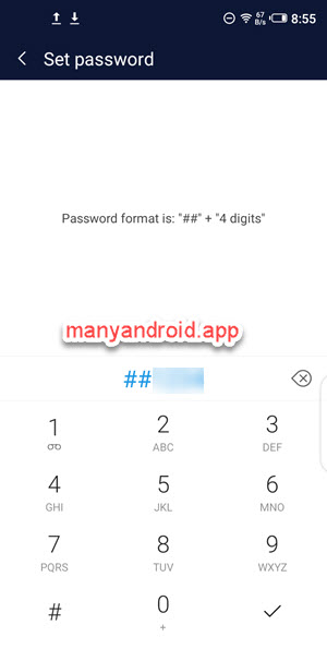 xhide set password on infinix mobile phone