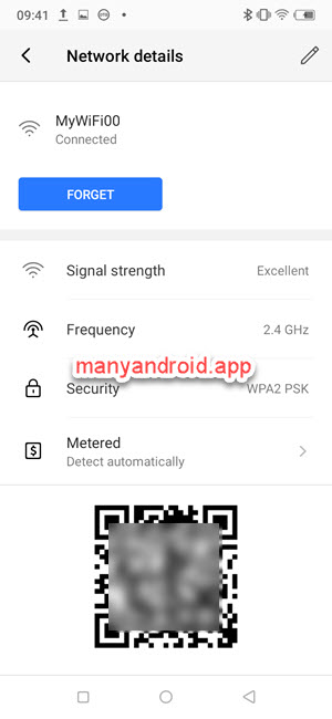 itel mobile phone network details - share wifi password