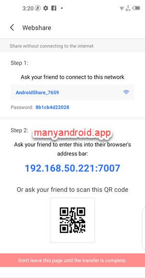shareme for android webshare via hotspot